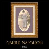 Gravure de Mode - Femme Française - Parisienne - France - Robe - Une Jolie Robe Simple