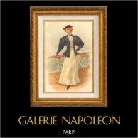Gravure de Mode de Paris - La Sirène