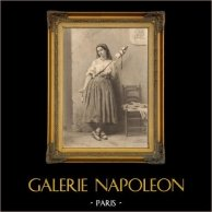 Porträt von Maria Magdalena oder Maria von Magdala (Malerei dem Kaiser Napoleon III Gehörend) | Original stahlstich nach C. Moreau, gestochen von C. Goeffroy. 1844