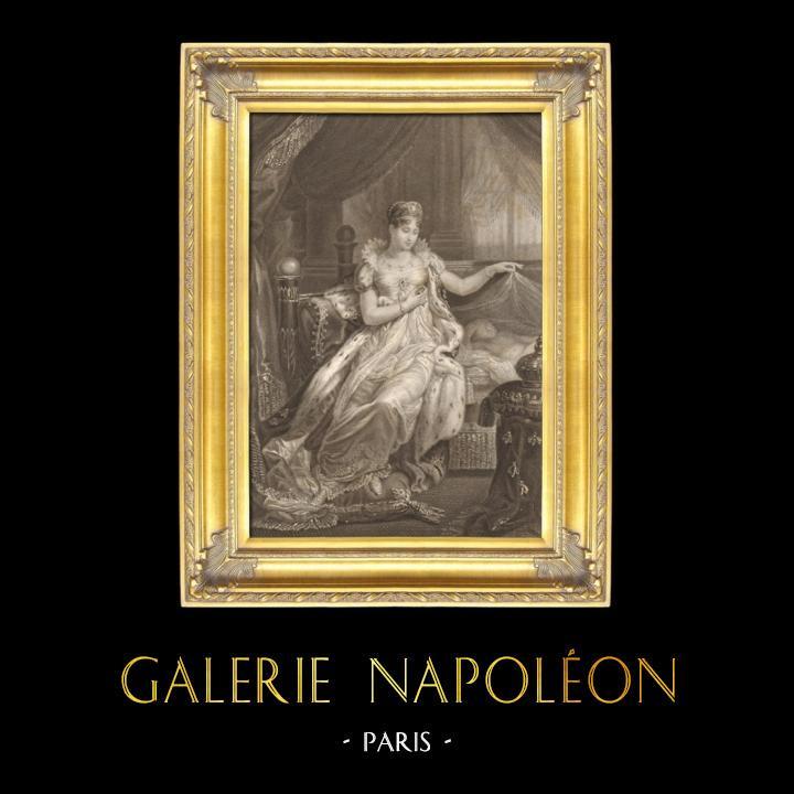 Gravures Anciennes & Dessins   Portrait de l'Impératrice Marie-Louise d'Autriche - Epouse de Napoléon (1791-1847)   Taille-douce   1837