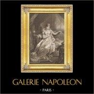 Portrait de l'Impératrice Marie-Louise d'Autriche - Epouse de Napoléon (1791-1847) | Gravure sur acier originale dessinée par Massard, gravée par Goutière. 1837