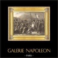 Napoleon Kommer Tillbaka från den Elba ön (1815) | Original stålstick efter teckningar av A. Sandoz efter C. Auguste, graverade av P. Girardet. 1837