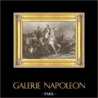 Guerras Napoleónicas - Alemania - Sajonia - Napoleón sobre su Caballo antes de la Batalla de Bautzen (9 de mayo de 1813) | Original acero grabado dibujado por K. Girardet, grabado por J. Outhwaite. 1837