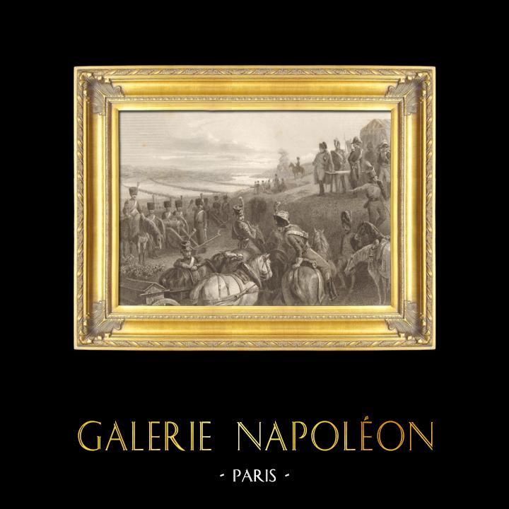 Gravures Anciennes & Dessins | Guerres Napoléoniennes - Campagne de Russie - Napoléon Franchit le Fleuve Niémen (24 juin 1812) | Taille-douce | 1837