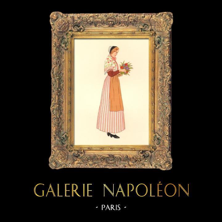 Gravures Anciennes & Dessins | Costumes Régionaux Français - Traditions et Folklore - Régions de France - Lorraine - Nancy | Lithographie | 1930
