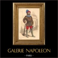 French Fashion History - Costumes of Paris - 15th Century - XVth Century - Guard - Jailer - Jailor (1490)