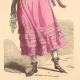 DETAILS 05   French Fashion History - Costumes of Paris - 19th Century - XIXth Century - Chapeau en Bateau - Capote de Percale - Sunshade - Culotte de Casimir (1810-1812)
