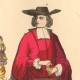 DÉTAILS 02   Histoire de la Mode Française - Costumes de Paris - 17ème Siècle - XVIIeme Siècle - Louis XIV - Seigneur - Petit Abbé - Officier - Riche Bourgeois