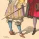 DÉTAILS 04   Histoire de la Mode Française - Costumes de Paris - 17ème Siècle - XVIIeme Siècle - Louis XIV - Seigneur - Petit Abbé - Officier - Riche Bourgeois