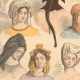 DETAILS 05   French Fashion History - Hairstyle - Headdress - Hat - 15th/16th Century - XVth/XVIth Century - Woman