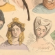 DETAILS 06   French Fashion History - Hairstyle - Headdress - Hat - 15th/16th Century - XVth/XVIth Century - Woman