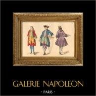 Historia de la Moda Francesa - Trajes de París - Siglo 18 - Siglo XVIII - Moda durante el Reino de Luis XV de Francia (1729)