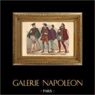 Histoire de la Mode Française - Costumes de Paris - 16ème Siècle - XVIeme Siècle - Noblesse - Mode durant le Règne de Henri III de France (1572)