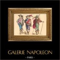 Histoire de la Mode Française - Costumes de Paris - 17ème Siècle - XVIIeme Siècle - Noblesse - Mode durant le Règne de Louis XIII de France (1615-1630)