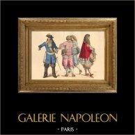 Histoire de la Mode Française - Costumes de Paris - 17ème Siècle - XVIIeme Siècle - Philippe de France - Duc d'Orléans - Mode durant le Règne de Louis XIV de France (1663-1671)