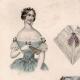 DETAILS 01 | French Fashion Plate - French Fashion Print - Paris - Le Moniteur de la Mode - 20 July 1846 - 20 Dress and Hat
