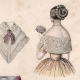 DETAILS 02 | French Fashion Plate - French Fashion Print - Paris - Le Moniteur de la Mode - 20 July 1846 - 20 Dress and Hat