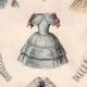 DETAILS 04 | French Fashion Plate - French Fashion Print - Paris - Le Moniteur de la Mode - 20 July 1846 - 20 Dress and Hat