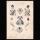 DETAILS 06 | French Fashion Plate - French Fashion Print - Paris - Le Moniteur de la Mode - 20 July 1846 - 20 Dress and Hat