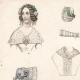 DETAILS 01   French Fashion Plate - French Fashion Print - Paris - Le Moniteur de la Mode - 30 March 1844 - 20 Dress and Hat