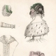 DETAILS 02   French Fashion Plate - French Fashion Print - Paris - Le Moniteur de la Mode - 30 March 1844 - 20 Dress and Hat