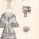 DETAILS 03   French Fashion Plate - French Fashion Print - Paris - Le Moniteur de la Mode - 30 March 1844 - 20 Dress and Hat