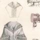 DETAILS 04   French Fashion Plate - French Fashion Print - Paris - Le Moniteur de la Mode - 30 March 1844 - 20 Dress and Hat