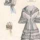 DETAILS 05   French Fashion Plate - French Fashion Print - Paris - Le Moniteur de la Mode - 30 March 1844 - 20 Dress and Hat