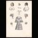 DETAILS 06   French Fashion Plate - French Fashion Print - Paris - Le Moniteur de la Mode - 30 March 1844 - 20 Dress and Hat