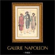 Gravure de Mode - Femme Française - Parisienne - France - Manteaux - L'Album Tailleur de la Femme Chic - Automne 1921