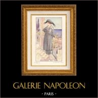 Stampa di Moda Francese - Parigina - Francia - Création Drecoll - Tailleur en Djersaria