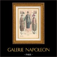 Gravure de Mode - Femme Française - Parisienne - France - Automne 1920 - L'Album Tailleur de la Femme Chic