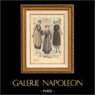 Gravure de Mode - Femme Française - Parisienne - France - L'Album Tailleur de la Femme Chic - Automne 1920