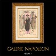 Stampa di Moda Francese - Parigina - Francia - Soprabito - Autunno 1920