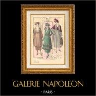 Stampa di Moda Francese - Parigina - Francia - Autunno 1920 - Soprabito