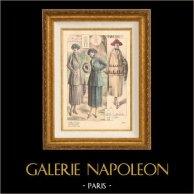 Stampa di Moda Francese - Parigina - Francia - Créations Francis - Création Bertholle - Autunno 1920