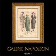 Stampa di Moda Francese - Parigina - Francia - Creations Berthe Hermance - Soprabito - Autunno 1920