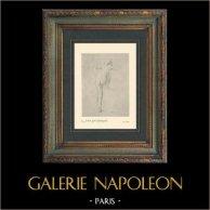 Impressionnisme - Sémiramis - Nu Artistique - Etude de Femme Nue (Edgar Degas - 1861) | Héliogravure originale sur papier velin d'après Edgar Degas. Imprimée 6 ans avant sa mort. 1911