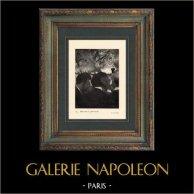Impressionism - Balett - Kapell - Musiker med Orkesteren - Musiciens à l'Orchestre (Edgar Degas - 1872) | Original heliogravyr på velängpapper efter Edgar Degas. Utskrivavet 6 år för hans död. 1911