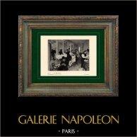 Impressionnisme - La Oficina de Algodón en Nueva Orleans- Le Bureau de Coton à la Nouvelle Orléans (Edgar Degas - 1873)