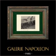 Impressionismo - Balletto - Danzatrice - Danseuses à la Barre (Edgar Degas - 1877) | Incisione heliogravure originale su carta velina secondo Edgar Degas. Stampata 6 anni prima della sua morte. 1911