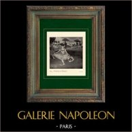Impressionismo - Balletto - Danzatrice con un Mazzo di Fiori - Danseuse au Bouquet (Edgar Degas - 1878) | Incisione heliogravure originale su carta velina secondo Edgar Degas. Stampata 6 anni prima della sua morte. 1911