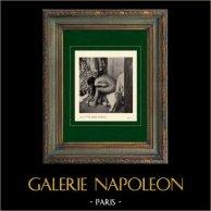 Impressionnisme - Nu Artistique - Bain - Femme Baissée s'Essuyant (Edgar Degas - 1886)