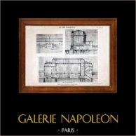 Disegno di Architetto - Architettura - Stazione ferroviaria (R. Mauduit) | Eliotipia originale di E. Le Deley. 1910