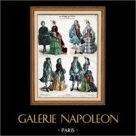 Traje Francés y Alemán - Moda Francesa y Alemana - Francia - Alemania (Siglo 18 - Siglo XVIII)