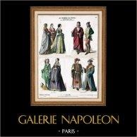 German, French and Italian Costume - German, French and Italian Fashion - France - Germany - Italy - Florence (15th Century - XVth Century)