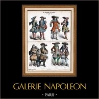 Traje Francés - Moda Francesa - Traje Militar - Oficial de Infantería Francesa - Mosquetero y Arcabuz - Francia (Siglo 17 - Siglo XVII)