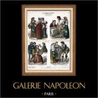 Italian Costume - Italian Fashion - Italy - Rome - Naples - San Germano - Genzano - Pifferaro - Neapolitan Fisherman (19th Century -  XIXth Century)