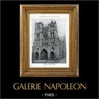 Duomo - Cattedrale di Amiens (Somme - Francia) | Eliotipia originale. Anonima. 1926