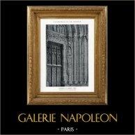 Cathédrale de Bourges - Pied-Droit de la Porte du Porche Nord (Cher - France) | Héliotypie originale. Anonyme. 1926